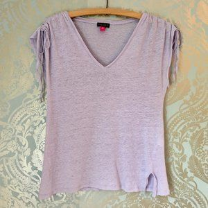 Vince Camuto Linen Top Pastel Purple